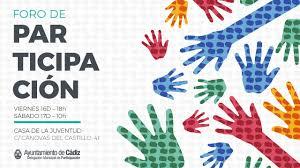 Imagen de la noticia I Foro de Participación Ciudadana en Cádiz