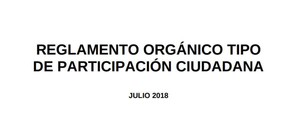 Imagen de la noticia Reglamento tipo de Participación Ciudadana
