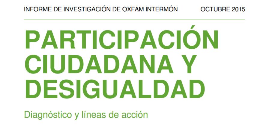 Imagen de la noticia Participación Ciudadana y desigualdad