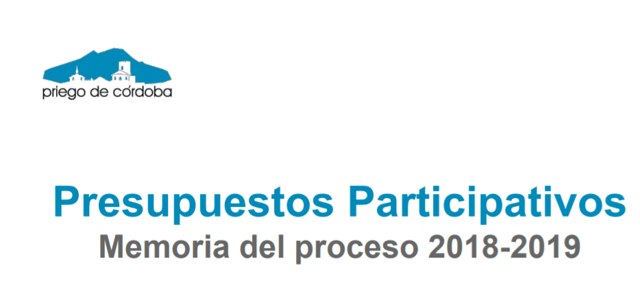 Imagen de la noticia Memoria de los Presupuesto Participativos de Priego de Córdoba 2018-2019