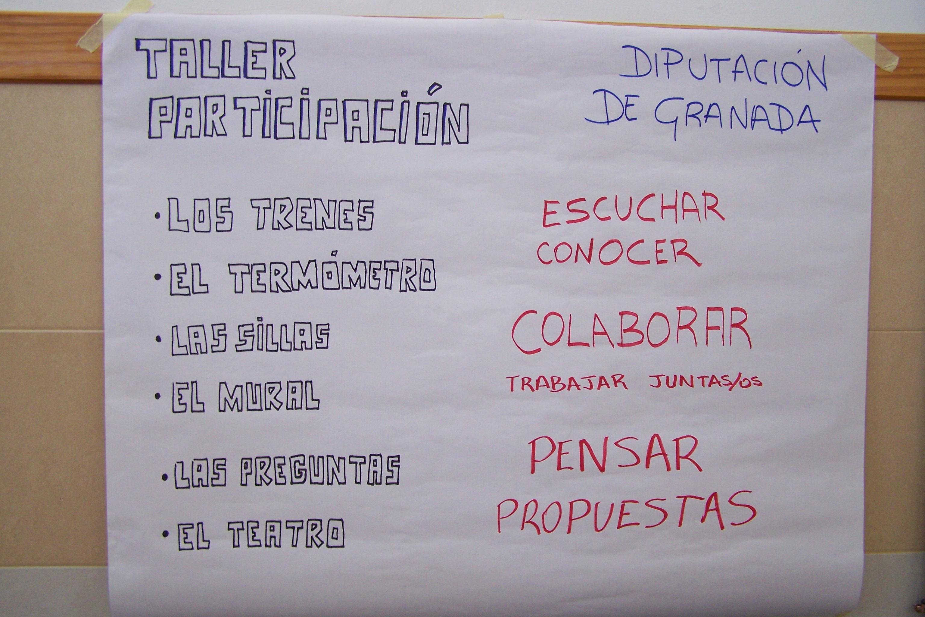 """Imagen de la noticia Talleres de """"ParticipActiva"""". Introducción a la participación y a la dinamización de grupos con niñas y niños de la provincia de Granada"""