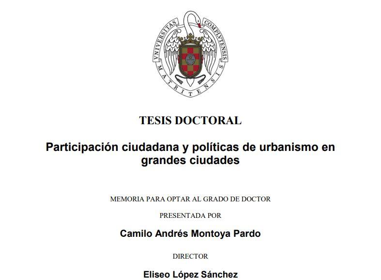Imagen de la noticia Participación ciudadana y políticas de urbanismo en grandes ciudades