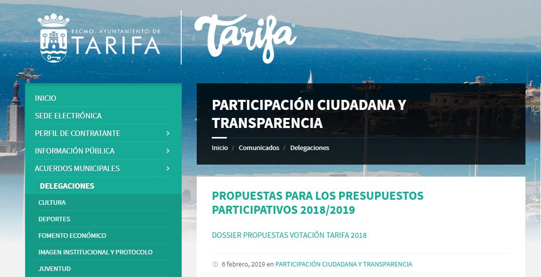 Imagen de la noticia Autorreglamento Presupuestos Participativos Tarifa 2018 -2019