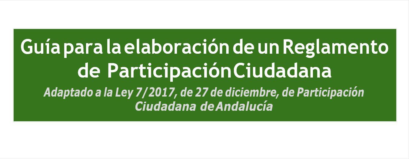 Imagen de la noticia Guía para la elaboración de un Reglamento de Participación Ciudadana