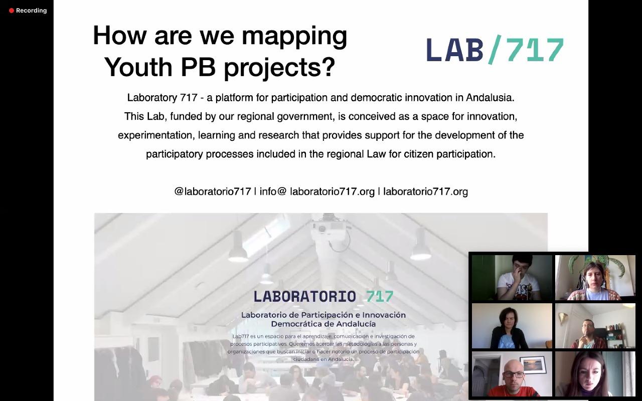 """Imagen de la noticia Presentación del Laboratorio 717 en los seminarios online sobre Erasmus+ """"Youth PB Accelerator"""""""