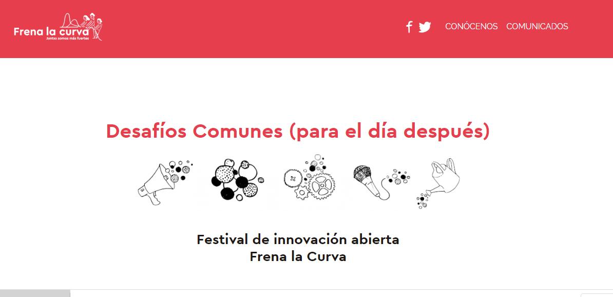 Imagen de la noticia Festival de innovación abierta Frena la Curva. Desafíos Comunes (para el día después)