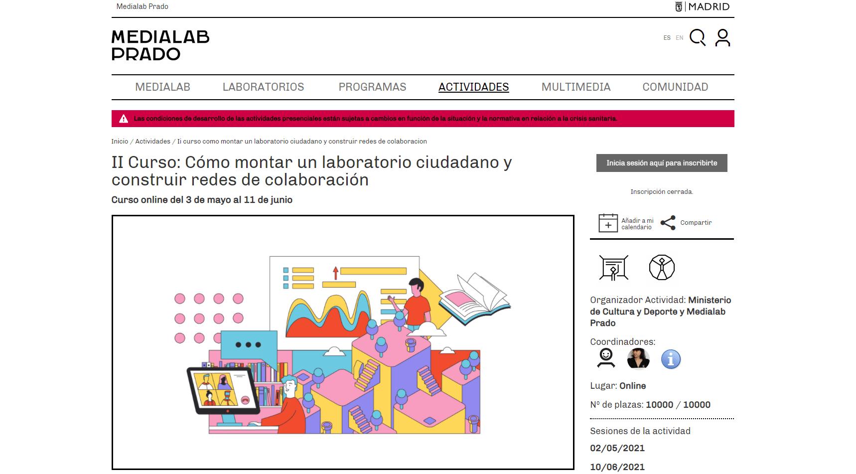 Imagen de la noticia Abierta la segunda edición del proyecto Laboratorios ciudadanos distribuidos: innovación ciudadana en bibliotecas y otras instituciones culturales