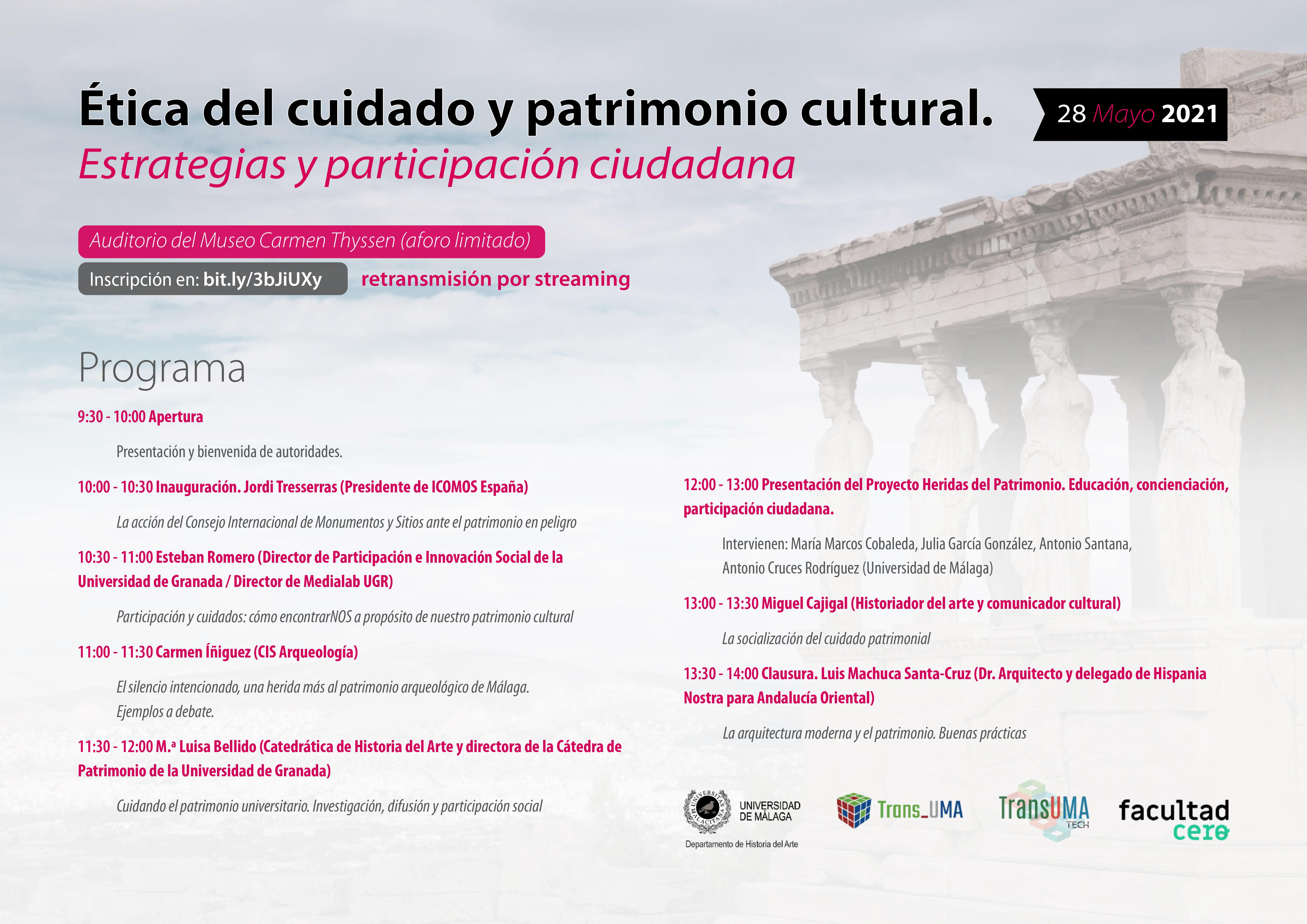 Imagen de la noticia Ética del cuidado y patrimonio cultural. Estrategias y participación ciudadana